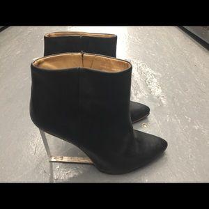 Maison Martin margiela black glass ankle boots